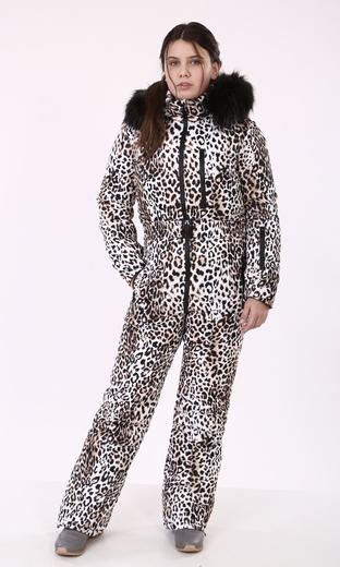 "Комбинезон зимний женский Boo&Bon ""Леопард"""