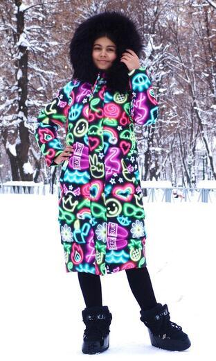 "Oversized down jacket for teenagers Boo&Bon ""Neon"""