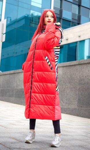 """Straight down jacket for female Boo&Bon """"Pizza"""""""