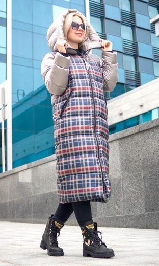 """Straight down jacket for female Boo&Bon """"Pin-up"""""""