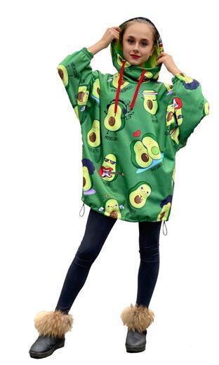 "Hoodie for female Boo&Bon ""Avocado"""