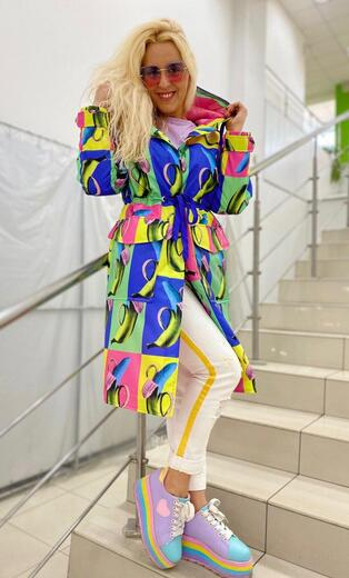 "Women's raincoat Boo&Bon ""Bananas"""