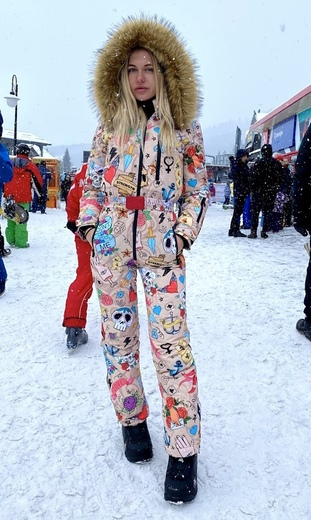 "Winter jumpsuit for female Boo&Bon ""Tattoo"""