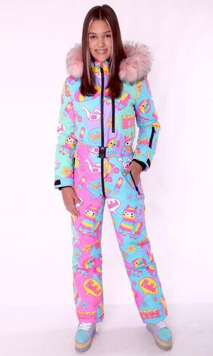 "Winter jumpsuit for female Boo&Bon ""Lamas at the Resort"""