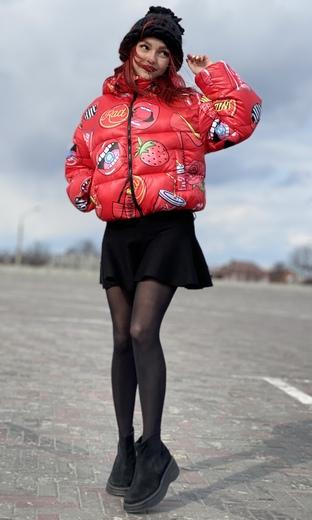 "Куртка-зефирка женская Boo&Bon ""Черри"" арт.ПЖЗЧ-1"